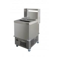 Ларь морозильный с откатной крышкой на колесах 605*805*1290 для картофеля фри
