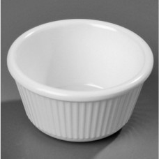 Соусник круглый рифленый, 45мл, белый