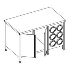Стол с диспенсерами для стаканов СЗ 1400*800*915