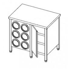 Стол с диспенсерами для стаканов СЗ 895*600*850