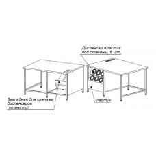 Стол с диспенсерами для стаканов СЗ 1600*1350*900